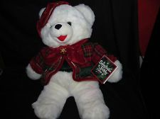 Snowflake Teddy Plush,1999,22 Inch, Bear In Holiday Outfit,Dan Dee,New,Mint