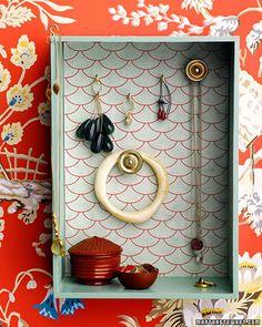 hook, jewelry storage, old drawers, jewelry displays, shadow box, diy jewelry, jewelry organization, knob, bedroom