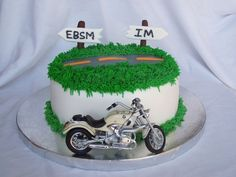 cake idea, cake decor, motorcycl cake, thing cake, cake toppers