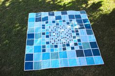 Mosaic Lap Quilt by Lady Harvatine on Flickr.