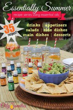 Essentially Summer Recipes Featuring 35 Amazing Recipes Using Essential Oils | www.decorchick.com