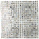 Gorgeous irredescent mosaic tiles.