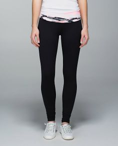 lululemon wunder, pant gym, lululemon pant, fit cloth, color blackbleach, coralbar pink, astro wunder, blackbleach coralbar