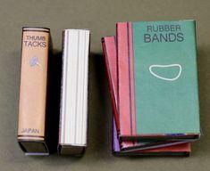 mini book cover matchboxes