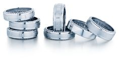Verragio men's In-Gauge and Classic wedding ring collections.