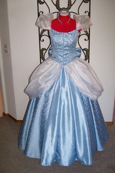 Stunning Cinderella Gown blue and silver by pixiedustboutiquee, $500.00 #Cinderella #RoyalBall #DisneyPrincess #Disney #Cosplay