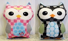 Gorgeous handmade owl cushions from Petunias