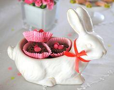Doughnut nests in bunny bowl