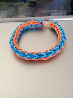 Rainbow loom four pin fishtail bracelet