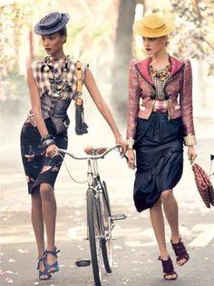 vogue, fashion, style, steven meisel, bicycl, marc jacobs, grace coddington, jourdan dunn, hat