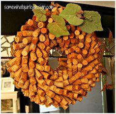 Wine Cork Wreath - a different technique - TUTORIAL