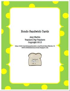 Rondo Sandwich Solfegge and Form Activity