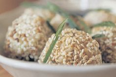 Brown Rice Balls recipe, Bite – These brown rice balls are a nutritious snack to have on hand and are great for school lunch boxes, providing a sustained release of energy.  – foodhub.co.nz