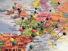 Map & pins.
