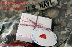 """Carry My Love With You"" pre-deployment note bundle to send with your spouse! Open me when when you need a laugh. when you can't fall asleep. when you miss me. What a great idea - MilitaryAvenue.com"