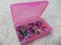 Keep buttons, beads, and other small embellishments in plastic soap boxes.