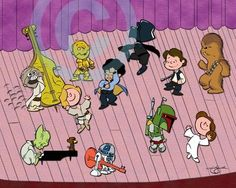 Star Wars/Peanuts MashUp. It doesn't get anymore friggin awesome than this.