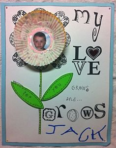 this is the general idea of the flowers with pictures in the center of cupcake liners