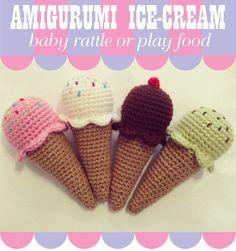 Mini Ice Cream Amigurumi : Gente con Arte: Dulces tejidos... on Pinterest Knitting ...