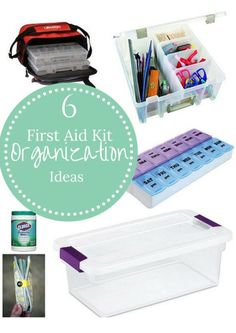 6 First Aid Kit Orga