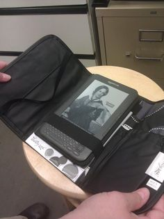 The Fold and Go Organizer is the perfect size for a Kindle or Kindle Fire! :)  @Jenna Nelson @ Call Her Happy
