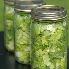 THIS WORKS! My lettuce stays fresh for ever… and when I see it in my fridge… it makes me want to eat it… cant beat that! What a GREAT idea.