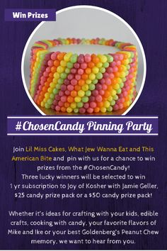 Join us over here on the #ChosenCandy board to WIN lots of great prizes.