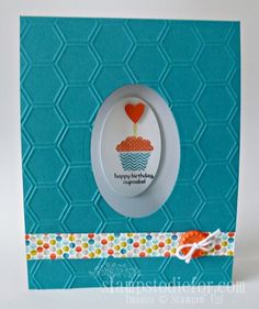 SU! Patterned Occasions stamp set; Sycamore Street DSP; colors are Island Indigo and Tangerine Tango - Patsy Waggoner
