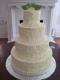 simple yet fun. wedding themes, cake idea, cake simpl, heather cake, wedding cakes, lime green, limes, birds, green weddings