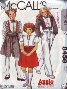 1982 Pattern inspired by the Annie movie