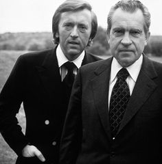 David Frost became famous after interviewing President Nixon. The politician was forced to admit that he had taken part in the infamous Watergate scandal