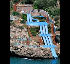 Slide directly into the Mediterranean? I think so.