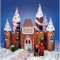 Candy Castle Holiday Decoration, Gingerbread Castle Decoration