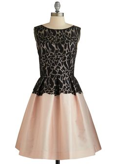 Blushing Beauty Dress. Whats black and pink and pretty all over? #prom #modcloth