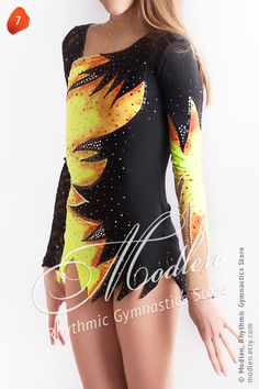 Rhythmic Gymnastics Leotard, Ice Figure Skating Dress, 7. $129.99, via Etsy...Cool for Fire Baton!