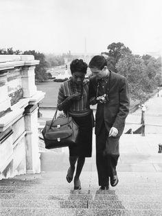 Nina Simone and her husband, Don Ross. 1959. Photo by Ellsworth Davis