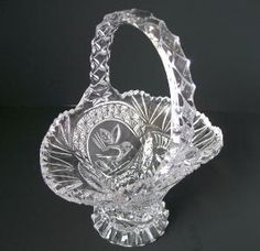 STUNNING Hofbauer Lead Crystal Basket from The by DeidresRedos