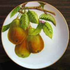 Decorative Dishes - Golden Yellow Green Pears Branch Leaves Decorative Plate, $19.99 (http://www.decorativedishes.net/golden-yellow-green-pears-branch-leaves-decorative-plate/)