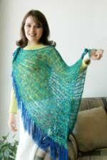 Shawl using Knifty Knitter {Free Pattern}