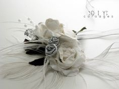DIY wrist corsage & hair clip