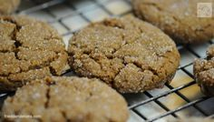 Chewy Ginger Molasses Cookies-vegan, uses coconut oil