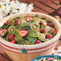 easter dinner, kiwi salad, food, salad dressings, kiwistrawberri spinach, summer salads, kiwi strawberry spinach salad, kiwistrawberryspinachsalad, meal