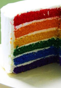 Rainbow Cakes are stunning surprises. Get the trick on how to make it here!