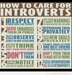 12 Tips to Caring for an Introverted Child. Adults too!
