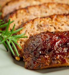 food recipes, beef recipes, barbecu glaze, onions, glaze meatloaf