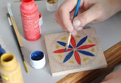 DIY: Hex Sign Coasters.