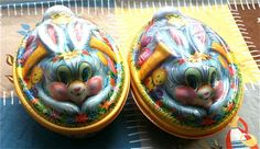 Two Vintage Plastic Easter Baskets by lishyloo on Etsy, $10.00