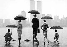 Umbrellas are grand. :) photograph, famili, family photos, family portraits, rodney smith, umbrella, white, twin towers, black