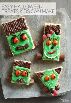 Click through for 20+ adorable Halloween treats your kids can make! Find the recipes here: http://www.bhg.com/halloween/recipes/halloween-treats-kids-can-make/?socsrc=bhgpin080714kidstreats