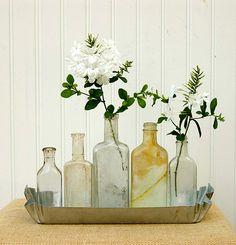 pretty bottle display